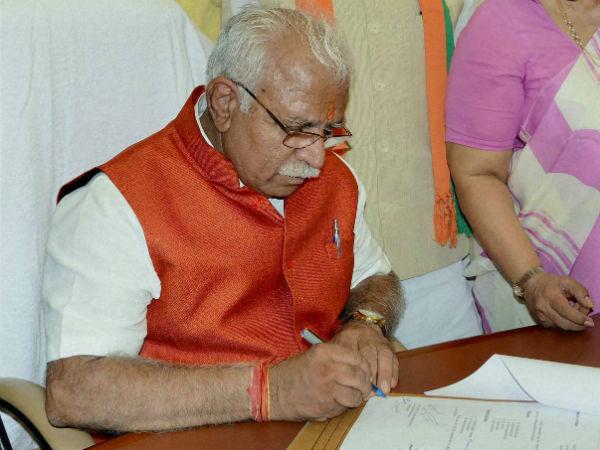 Haryana's new CM ML Khattar.