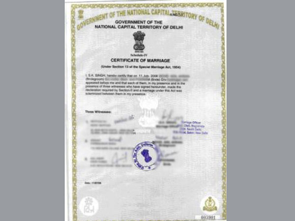 How to apply for marriage certificate your complete guide oneindia it is a legal proof you are married and the most vital document of a marriage in 2006 the supreme court made it compulsory to register the marriage for yadclub Gallery