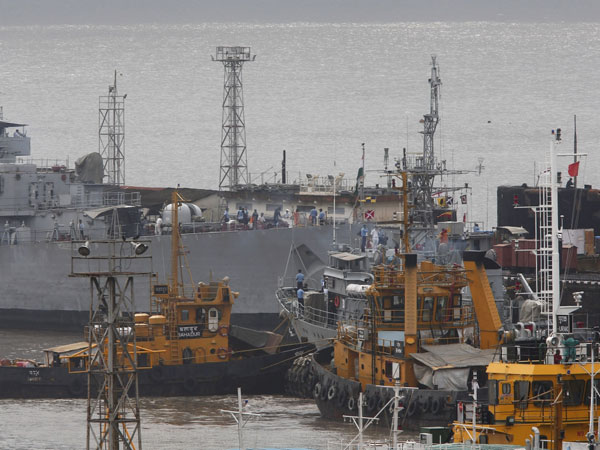 Naval auxiliary ship sinks off Vizag