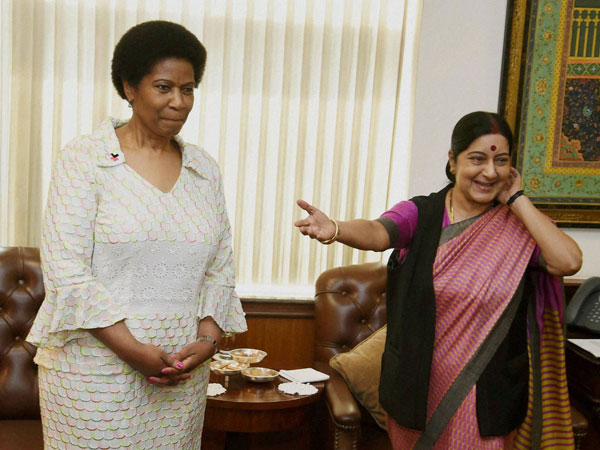 External Affairs Minister Sushma Swaraj with Executive Director