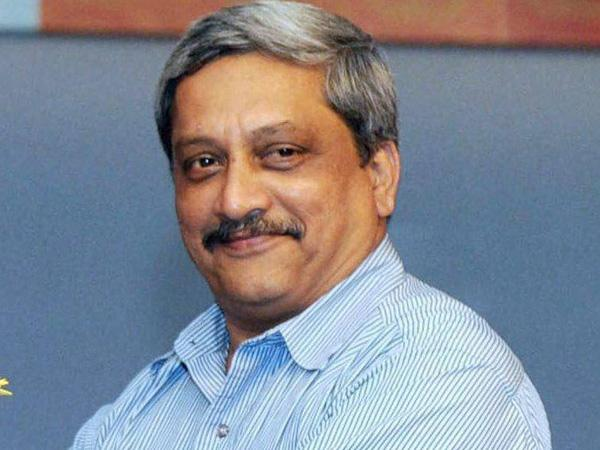 Defence Minister Manohar Parrikar today filed his nomination for Rajya Sabha elections from Uttar Pradesh today.