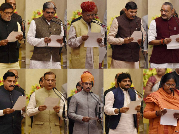 New ministers of Modi cabinet