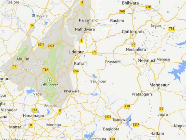 Woman paraded naked in Rajsamand, Rajastha. (MAP)