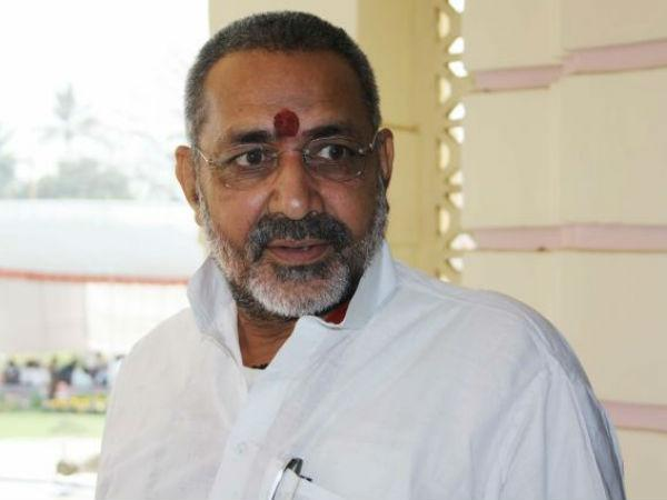 Rights panel notice to officer over allegation against Giriraj.