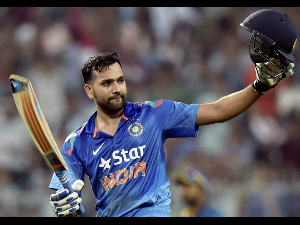Rohit celebrates his historic double century