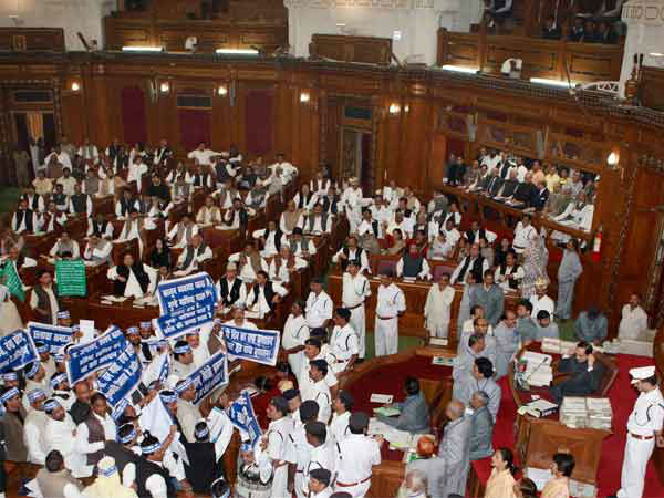 Pandemonium in UP Assembly (file photo)