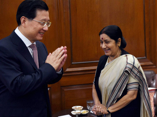 External Affairs Minister Sushma Swaraj with Quang Wei