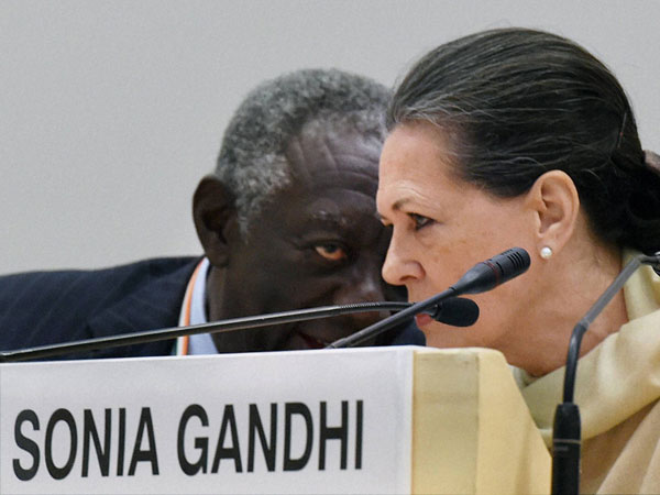 Congress President Sonia Gandhi with Former Ghanaian President