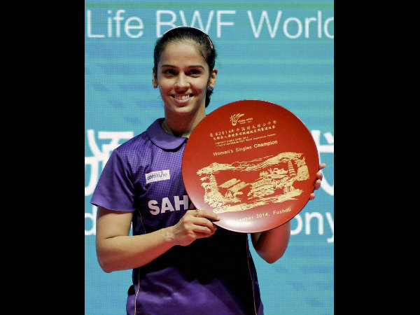 Saina with her China Open title