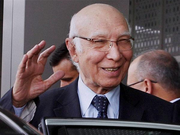 File photo of Sartaj Aziz
