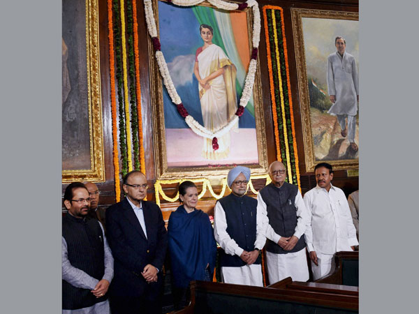 Paying tributes to the former Prime Minister Indira Gandhi