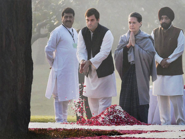 Congress President Sonia Gandhi with party Vice-President Rahul Gandhi