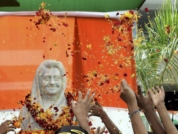 Congress factionalism comes to fore at Indira anniversary function