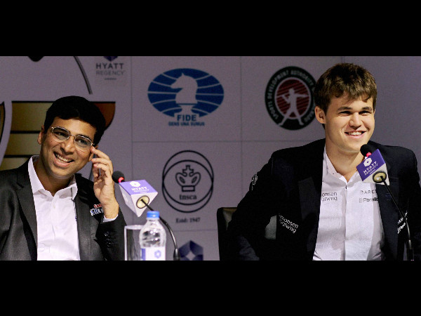File photo: Anand and Carlsen