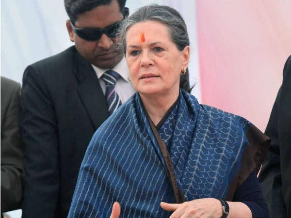 Sonia hits out at BJP over J&K polls