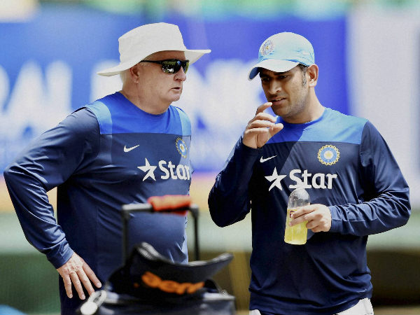 File photo: Fletcher with Dhoni