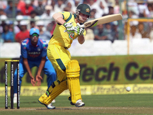 Phil Hughes during a match against India