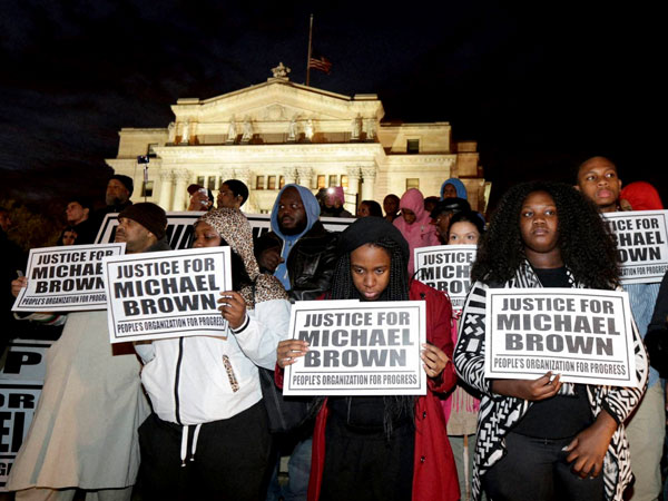 7 arrested in NY in Ferguson protest
