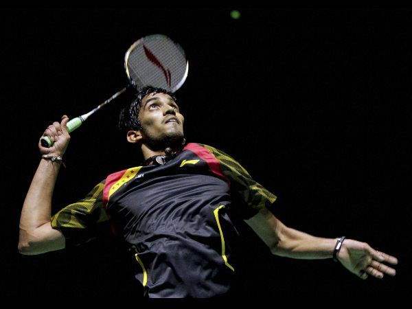 Kidambi Srikanth in action against Lin Dan in the final