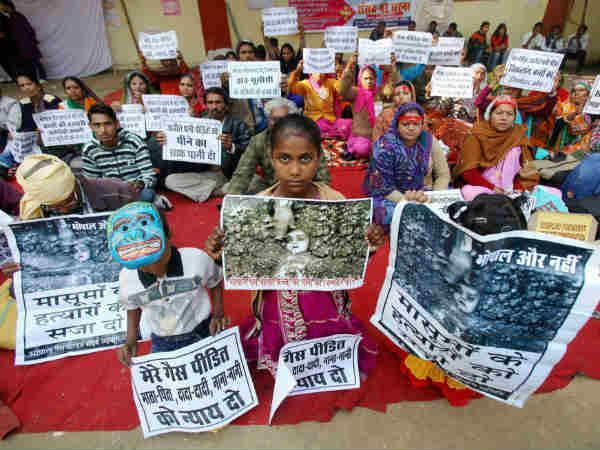 File photo of a march for Bhopal gas tragedy