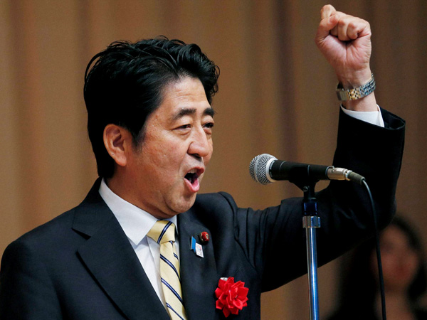 Survey predicts win for Abe's party in Japan