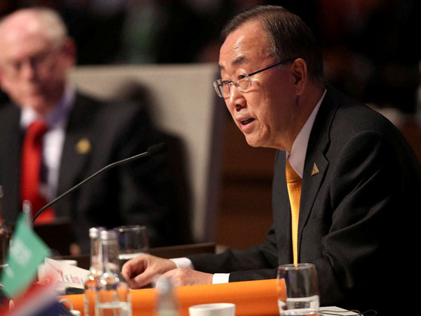 UN urges progress against global warming at climate conference.