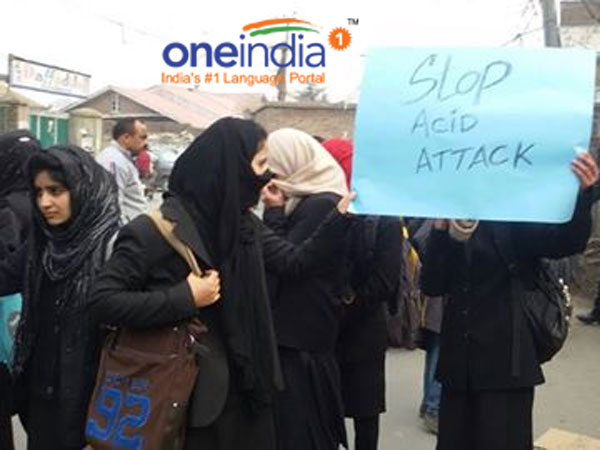 Acid attack on woman in Srinagar