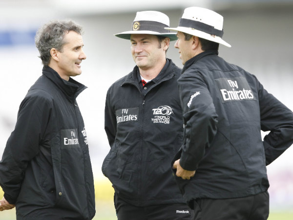 File photo: Umpires Billy Bowden, Simon Taufel and Nigel Llong. Picture used for representational purpose only.