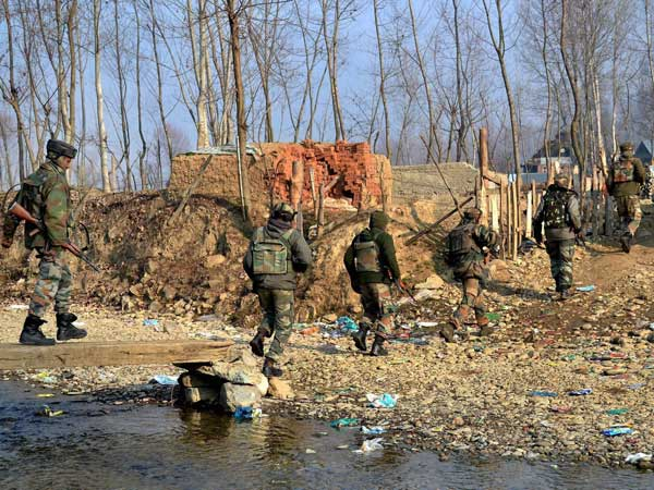 Army jawans during an encounter operation in Kupwara