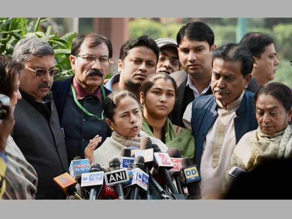 Mamata Banerjee addresses media