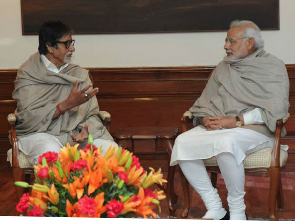 Bollywood megastar Amitabh Bachchan met Prime Minister Narendra Modi in the national capital on Saturday..