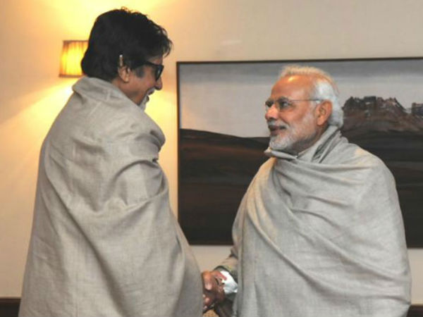 Bollywood megastar Amitabh Bachchan met Prime Minister Narendra Modi in the national capital on Saturday.