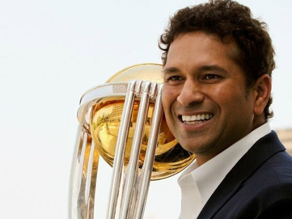 File photo: Tendulkar with the World Cup trophy after winning the tournament in 2011