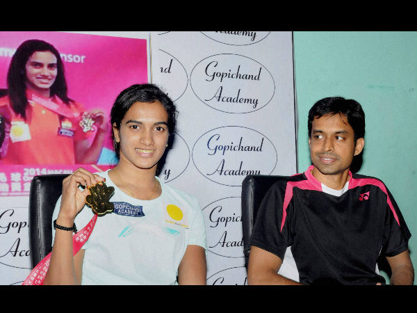 File photo: Gopichand (right) with PV Sindhu