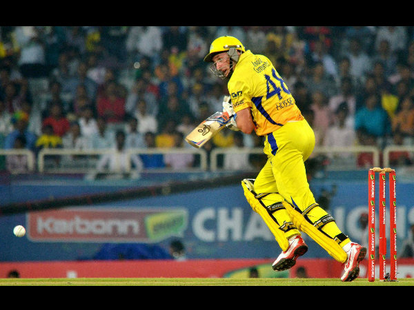 File photo: Hussey batting for CSK in IPL