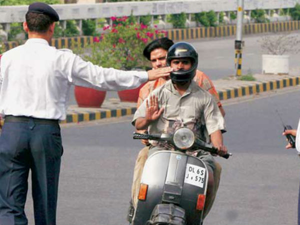 Gandhigiri in Punjab: Traffic violators presented with roses on New Year.