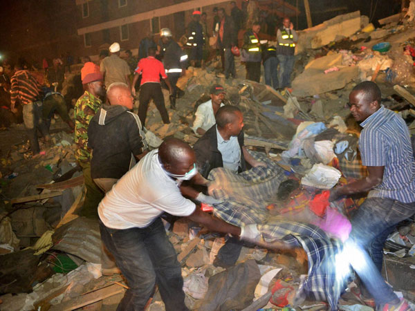 Building collapse in Nairobi