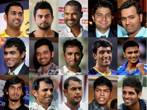 Picture combination: India's 15-man squad