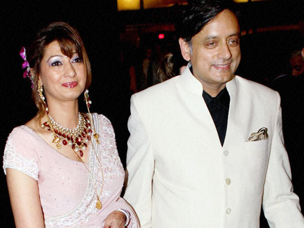 Sunanda Pushkar with Shashi Tharoor