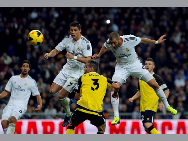 Real Madrid players in action