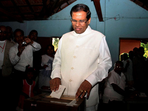 US eager to work with Sirisena