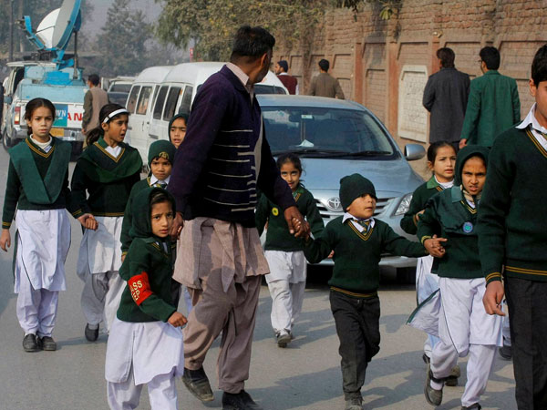 Peshawar school reopens after a month