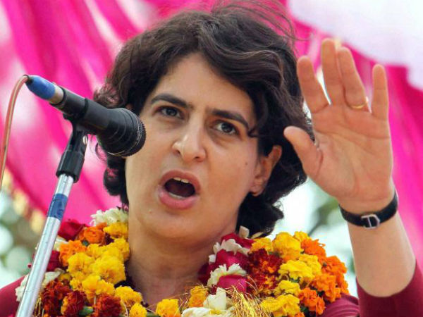 Posters supporting Sonia's daughter Priyanka Gandhi Vadra as Congress' new president re-emerge in Allahabad.