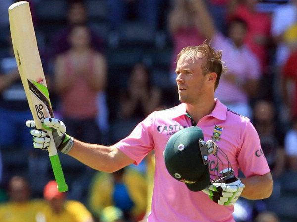 AB de Villiers celebrates after smashing fastest ODI ton