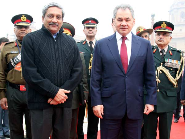 Parrikar with Russian Defence Minister