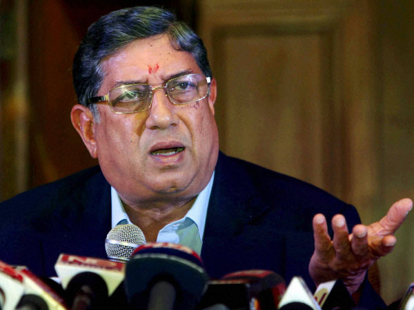 Srinivasan cannot contest BCCI polls this year