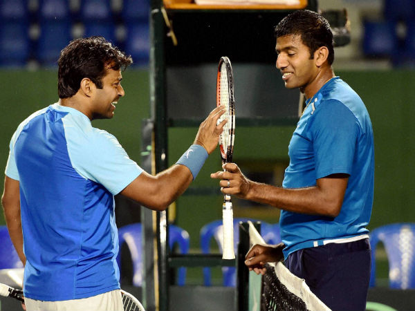 File photo: Rohan Bopanna (right) with Leander Paes
