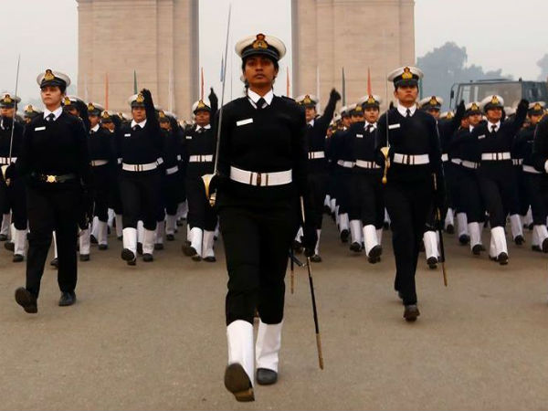 All-women contingent march down Rajpath on R-Day.