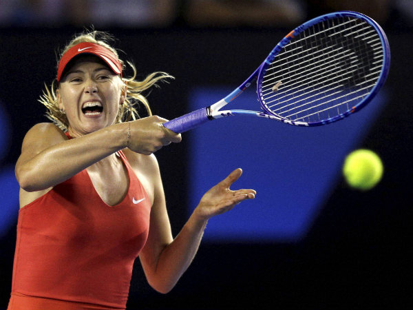 Maria Sharapova in action at Australian Open