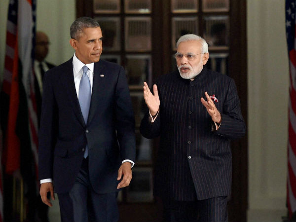 Barack Obama with PM Modi